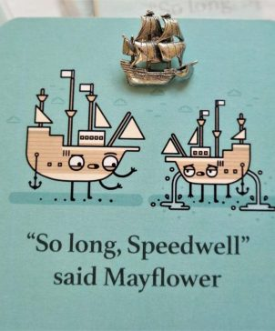 Mayflower Coasters & Pin
