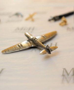 Spitfire pewter paperweight Southampton souvenir