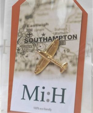 Gold Plated Spitfire Pin