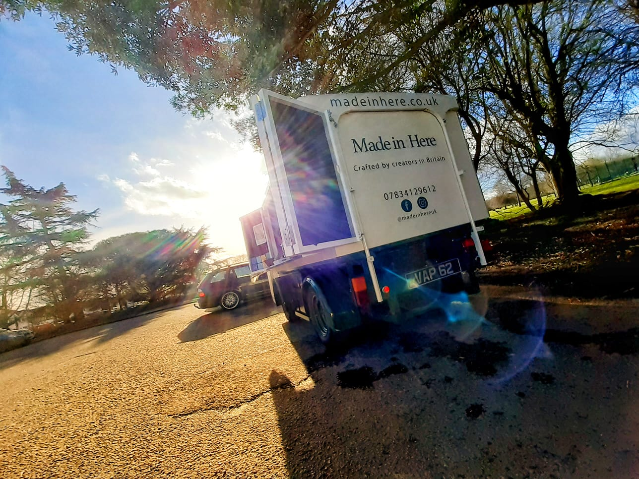 local sustainable electric milk float