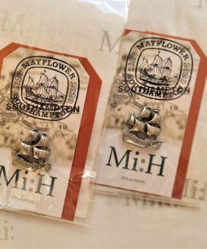 Mayflower Pewter Pin Badge