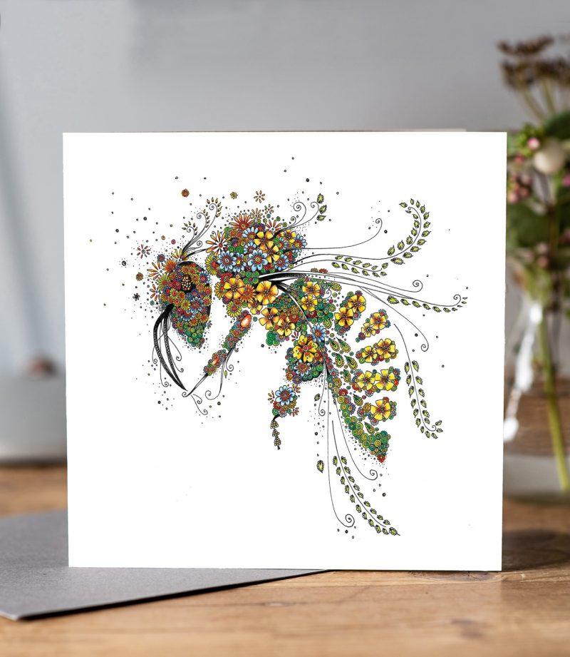 Honey Bee in Flowers